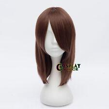 Angel Beats Yuri Nakamura 45CM Short Dark Brown Straight Anime Cosplay Wig+Cap