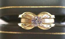 WEDDING SET-2 PIECE  SOLID 14k GOLD &  DIAMOND WEDDING & ENGAGEMENT RINGS
