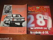 RIVISTA ROMBO 1985/25=ALBORETO FERRARI GP F1 CANADA=RALLY SARDEGNA=GP CAMION=