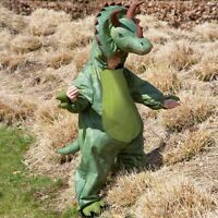 KIDS FANCY DRESS DINOSAUR TRICERATOPS COSTUME AGES 2-3 YEARS / AGE 3-5 YEARS