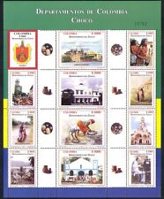 Colombia 2004 Regions/Trees/Church/Art/Boats/Nature/Buildings 12v sht n34915