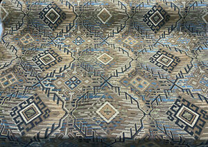 Swavelle Aztec Turquoise Brown Chenille Upholstery Fabric By The Yard
