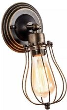 Industrial Wall Light / Lighting - Rustic Bronze Sconces - Wire Cage - BNIB