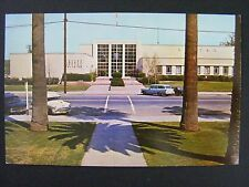 Yuba City California Sutter County Building Old Cars Vintage Postcard 1950s