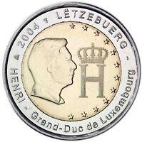 Luxemburg 2 Euro 2004 Monogramm des Großherzoges Gedenkmünze bankfrisch