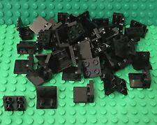 LEGO X50 New Black Bracket Up 1 x 2 - 2 x 2 Bulk Lot (part #99207)