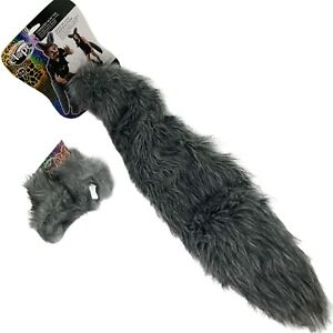 COMBO DELUXE OVERSIZED BIG WOLF GREY WEREWOLF WOLFMAN COSTUME TAIL & EARS ADULT