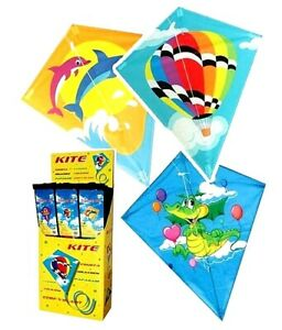 LARGE DIAMOND KIDS KITE FLYING LINE KITES FOR KIDS AND ADULTS OUTDOOR BEACH FUN
