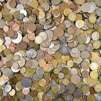 LOT OF 100 EXOTIC COINS FROM ASIA, AFRICA, CARIBBIAN & OCEANIA, SOUTH AMERICA
