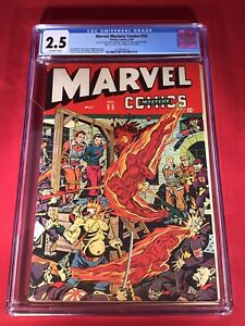 Marvel Mystery Comics #55 CGC 1944 GREAT WW2 TORTURE COVER Schomburg *NEW CASE*