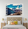 3D Mount White Clouds 048 Open Windows WallPaper Murals Wall Print AJ Carly