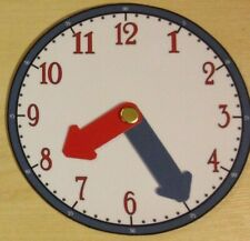 Learn To Tell the Time Clock Skill checker set of 8 - (Blue & Red)