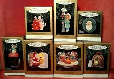 HALLMARK KEEPSAKE ORNAMENTS.  Magic Lights and Sound.  7 pc lot.  1993. In boxes