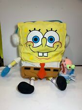 "2003 Mattel Spongebob SquarePants Wearing Winter Ear Muffs 24"" Stuffed Plush"