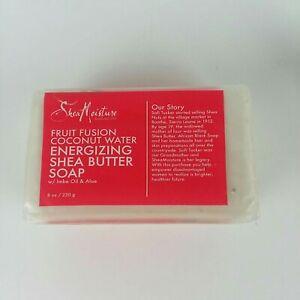 Shea Moisture Fruit Fusion Coconut Water Energizing Shea Butter Bar Soap 8oz