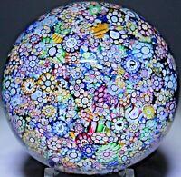 Beautiful PERTHSHIRE End of Day CLOSE PACK MILLEFIORI Glass PAPERWEIGHT BOX +COA