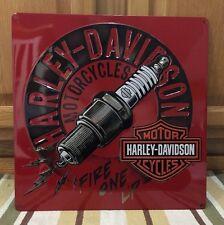 Harley-Davidson Spark Plug Motorcycles Motor Metal Bike Helmet Oil Vintage Style