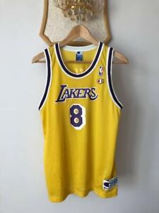 LOS ANGELES LAKERS NBA BASKETBALL VINTAGE JERSEY CHAMPION KOBE BRYANT #8 RARE!