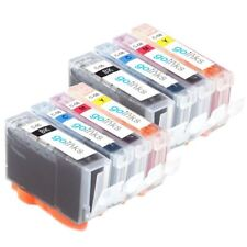 8 Ink Cartridges to replace Canon PGI-5Bk, CLI-8C, CLI-8M, CLI-8Y - Compatible