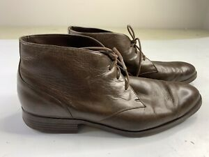 Cole Haan Mens Brown Leather Chukka Boots Size 12M