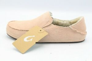 NEW Pair of OluKai Nohea Slippers Women's Size 9 Coral Rose Style #20269 In Box