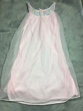 Vintage 60s Pink Sheer Sleeveless Radcliffe Nightie Lingerie Sleep Gown Sz Small