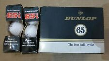 VINTAGE BOX 12x DUNLOP 65 / 2 BOXES of 3x DUNLOP 65i GOLF BALLS  Joblot Bundle