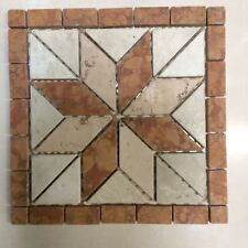 MARBLE FLOOR TILE DECOR 300MM X 300MM TERRACOTTA AND CREAM TUMBLED MARBLE