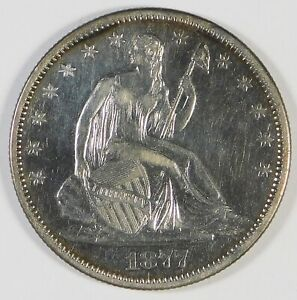 1877-S 50c Seated Liberty Silver Half Dollar Coin