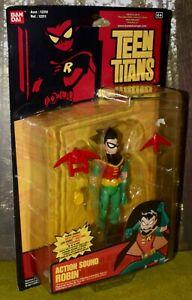 BAN DAI DC COMICS TEEN TITANS ROBIN (13.5cm ACTION FIGURE ) - CARD NOT MINT
