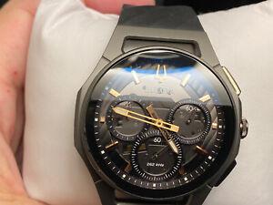 New Bulova 98A162 Curv Chronograph Titanium 44mm Case Rubber Men's Watch
