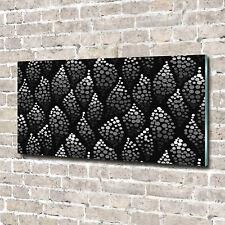 Wandbild aus Plexiglas® Druck auf Acryl 140x70 Sonstige Schwarz-weiße Punkte