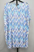 ATHENA Relaxed Sheer Swimsuit Cover-Up, Women's Size M, Blue NEW