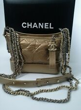fe5ac1afd7bb Chanel 2017 Aged Calfskin Quilted Gabrielle Hobo Bag Bronze Gold Metal  Small NWT
