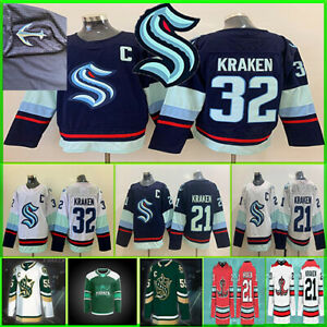 Seattle Kraken Team Hockey 2021 Jersey 32th Custom Men Women Youth All Stitched