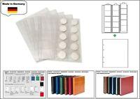1 LOOK 1-7391-W Münzhüllen PREMIUM 15 Fächer Für Münzen bis 44 mm + weiße ZWL