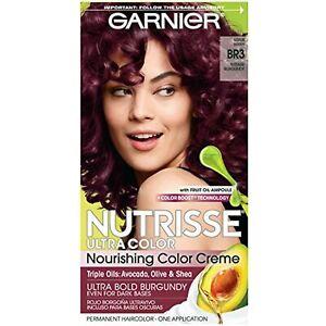 Garnier Nutrisse Ultra Color Nourishing Permanent Hair Color Cream, BR3 Intense