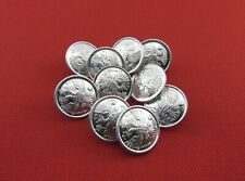 Military Uniform Metal Buttons Russian Imperial Double-Headed Eagle, 10 Pieces