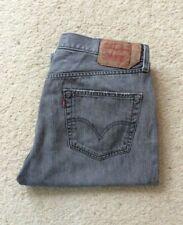 Para Hombre Levis 501 Xx Regular Fit Straight Leg Jeans Denim Gris W 36 L 30
