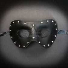 Black Leather Masquerade Mask for Men M33173