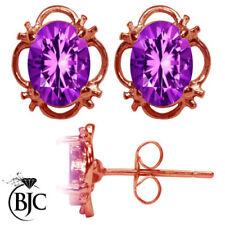 Orecchini di lusso bottoni farfalline viola