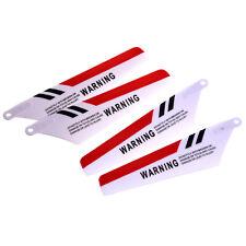 4 lame di ricambio per rotore per s107 rc Helicopter colore rosso O6H3