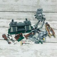 LEGO Star Wars Mixed Incomplete Sets Bundle incl 8038 Battle of Endor AT-ST