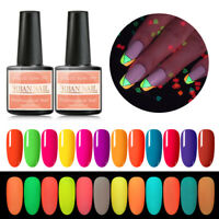 12 Colors RBAN NAIL Gel Nail Polish UV LED Soak Off Fluorescent Luminous Lacquer