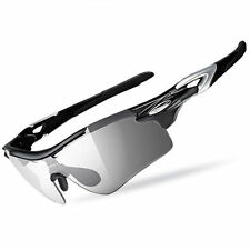 RockBros Cycling Polarized Changeable Glasses With Myopia Frame Sunglasses Black