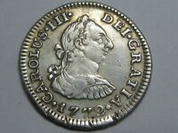 1772 MEXICO 1/2 REAL CHARLES III SPAIN SPANISH COLONIAL SILVER COIN