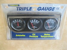 New 3 Guage under dash pannel, Amps,Oil Pressure,Water Temp, Factory Sealed,gage