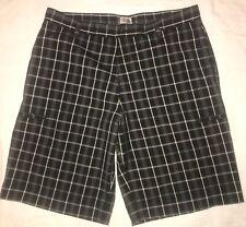 ADIDAS Men's golf shorts/Bermuda's--Black plaid—34