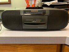 Vintage Magnavox Am/Fm Cassette Player - Black