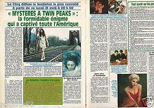 Coupure de presse Clipping 1991 Mystères a Twin Peaks  Sherilyn Fenn  (2 pages)